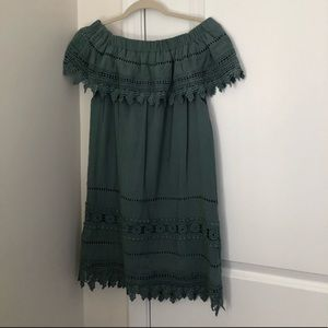 Green Turquoise Summer Dress